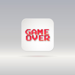 Lettering, game over, icon