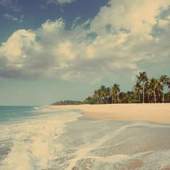 beach landscape - vintage retro style