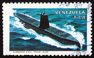 Postage stamp Venezuela 1980 Submarine Picua
