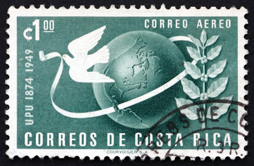 Postage stamp Costa Rica 1950 Symbols of UPU