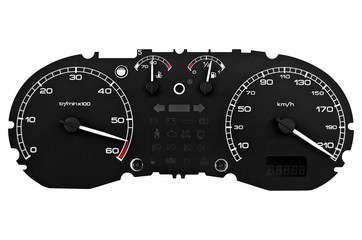 maximum speed gauge against a white background