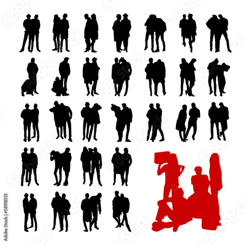 Vector Model Silhouettes of men. Part 10.