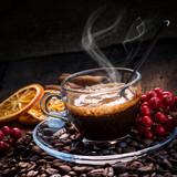 tazzina di caffè con vischio