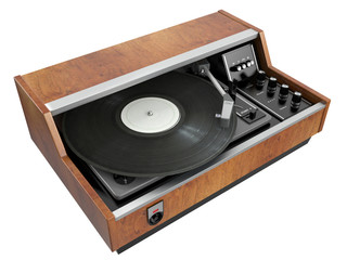 Old record player. 3D isolated