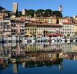 canvas print picture - France, Côte d'Azur, Cannes, le suquet, Château, musée