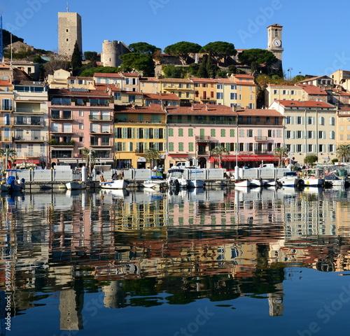 canvas print picture France, Côte d'Azur, Cannes, le suquet, Château, musée