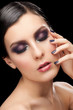Woman with makeup and manicure