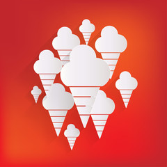 Ice cream web icon