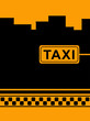 urban yellow background with cab taxi stop