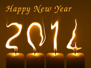 Happy new year 2014, PF 2014 flames