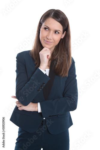 Geschäftsfrau im Business Outfit - isoliert auf Weiß
