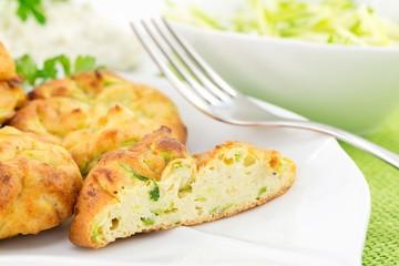 frittelle con zucchine e ricotta