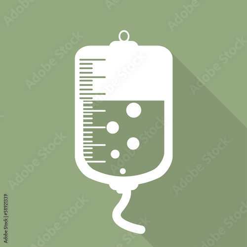 Medical dropper web icon