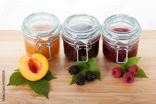 Homemade traditional recipe jams