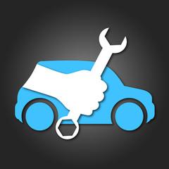 design for auto repair, symbol for business