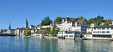 Zurich downtown across Limmat river
