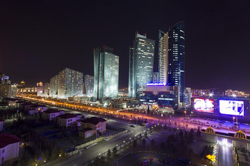Downtown of Astana city - the capital of Kazakhstan