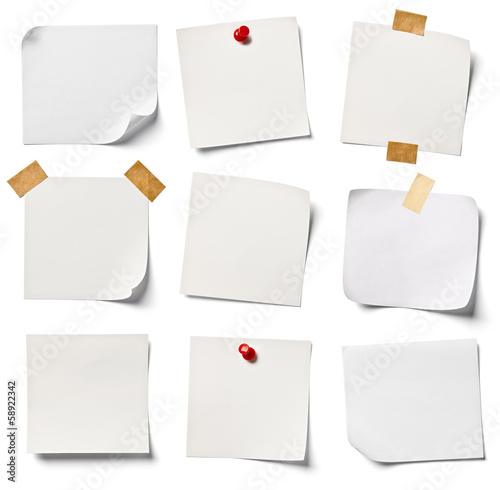 Fototapeta white note paper office business