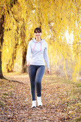 Woman jogging outdoors. Healthy lifestyle