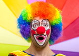 Colorful clown face