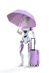 Robot with Umbrella