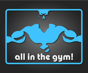 design a banner or badge for the gym © john1179