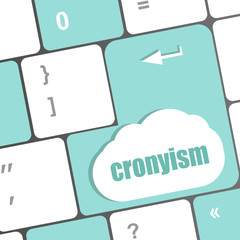 cronyism on laptop keyboard key button