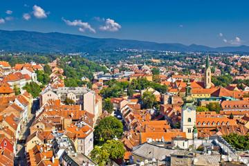 Zagreb, Capital of Croatia aerial view