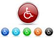 wheelchair icon vector set
