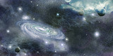 galaxy in space and planets - 58924585