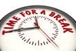 Time for a break (Время на перерыв). Часы с надписью