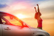 Car driving freedom and happiness