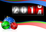 new year 2014 vector counter