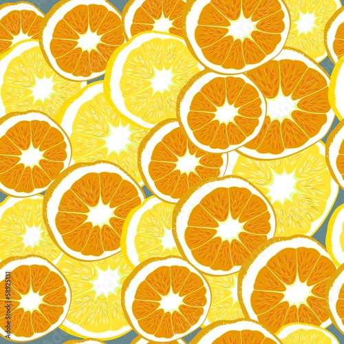 with lemons and oranges