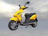 Yellow scooter - 3D render