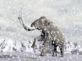 Mammoth in winter - 3D render