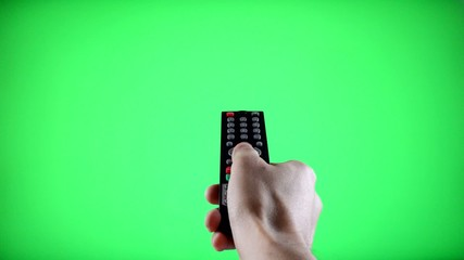 Remote Control Television changing three channels