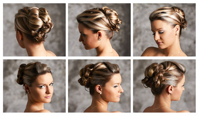 Hairstyle variations portrait