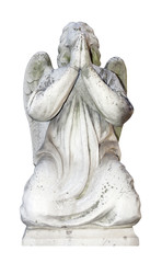 Isolated angel marble