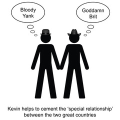 Kevin helps to cement the relationship