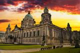 Sunset Image of City Hall, Belfast Northern Ireland - 58928199