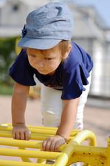 climbing toddler