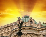 Opera Garnier in Paris, where music festivals and concerts are h poster