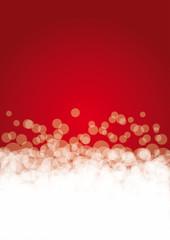 Sfondo rosso a bolle