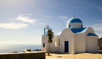 Old church overlooking the Aegean Sea, Nisyros, Greece