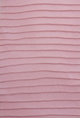 closeup of pink striped dress.