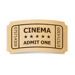 Cinema ticket.