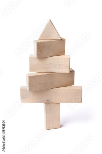 fir tree of wooden bars