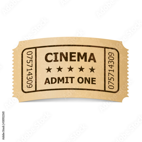 Cinema ticket.