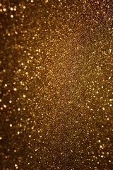 yellow vintage paper over bokeh glitter lights background
